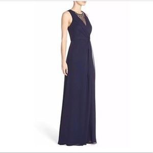Embellished Eliza J Navy formal/fancy Dress